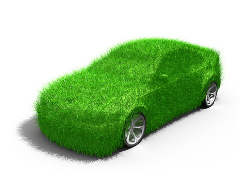 stock photo : Green Car